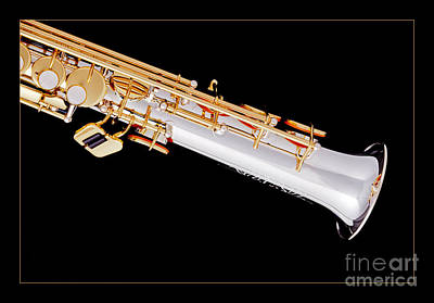 Saxophone Photograph - Soprano Saxophone Bell Photograph In Color 3343.02 by M K  Miller