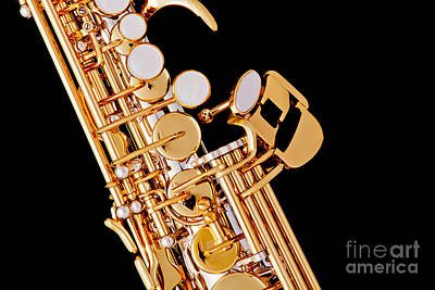 Music Photograph - Soprano Saxophone Photograph Picture Color 3354.01 by M K  Miller