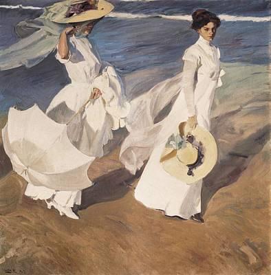 Impressionist Impressionist Photograph - Sorolla, Joaqu�n 1863-1923. Walk by Everett