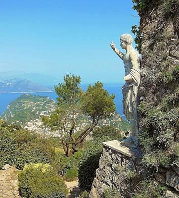 Sorrento Peninsula From Mt Solaro Capri  Print by Marilyn Dunlap