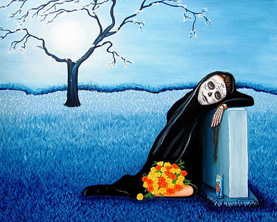Painting - Sorrow And Hope by Evangelina Portillo