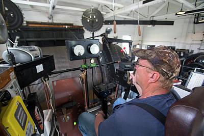 Engine House Photograph - Soudan Mine Hoist by Jim West