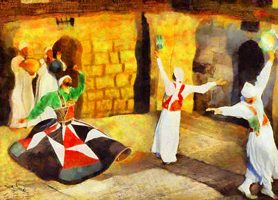 Egypt Painting - Soufi Dance by George Rossidis