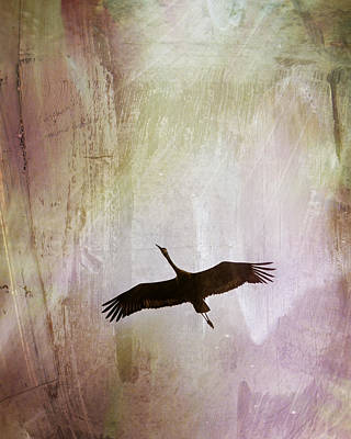 Egret Mixed Media - Soul Flying by Melissa Smith