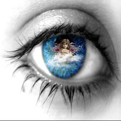 Soulful Eyes Digital Art - Soulful Blue Eye by Paige White