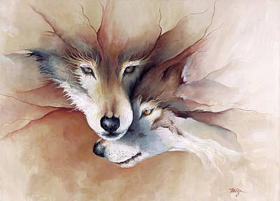 Wolf Painting - Soulmate by Mary Zins