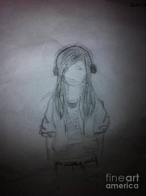 Music Ipod Drawing - Sound Of Music by Cristine Furbino