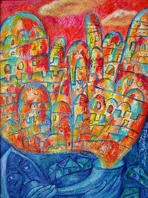 Sound Of Shofar Print by Leon Zernitsky