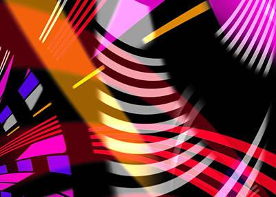 Abstract Digital Art - Sound Waves by Hakon Soreide