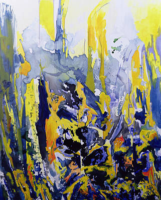 Abstract Movement Painting - Sounds So Soothing by Thomas Hampton