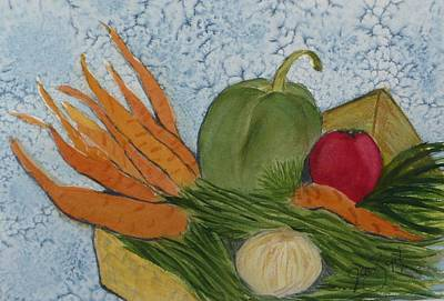 Green Beans Painting - Soup Basket by Joan Zepf