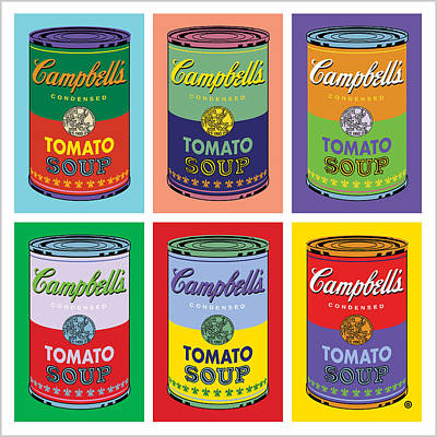 Voted Digital Art - Soup Cans by Gary Grayson
