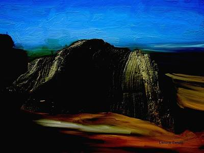 Solid Mixed Media - South Africa - The Rock by Lenore Senior