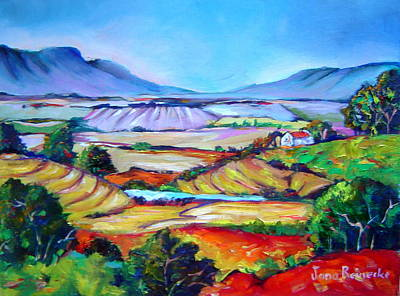 Jana Painting - South African Landscape by Jana Reinecke