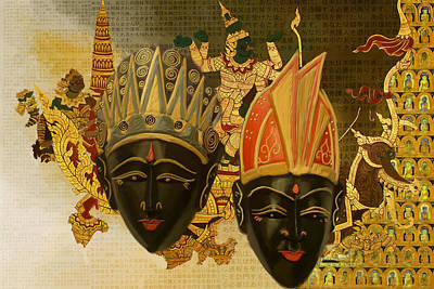 South East Asian Painting - South Asian Art by Corporate Art Task Force