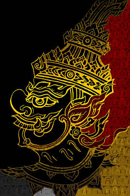 South Asian Art Motives Print by Corporate Art Task Force