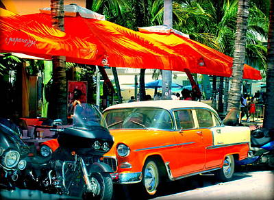 Jackie Gleason Photograph - South Beach Flavour by Karen Wiles