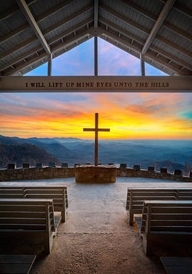 Mountain View Photograph - South Carolina Pretty Place Chapel Sunrise Embraced by Dave Allen