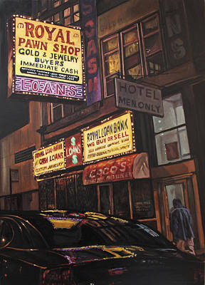 Pawn Painting - South Clark Street  by Christopher Buoscio
