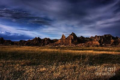 South Dakota Badlands - The Landscape Print by Wayne Moran