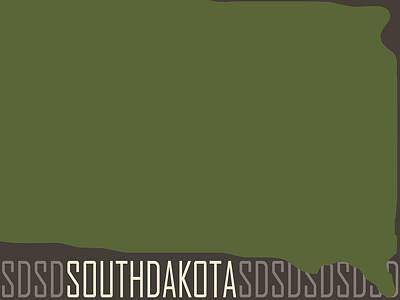 South Dakota State Modern Print by Flo Karp