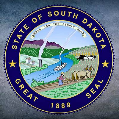 Natural Resources Digital Art - South Dakota State Seal by Movie Poster Prints