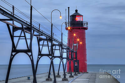 Beach Photograph - South Haven Lighthouse by Twenty Two North Photography