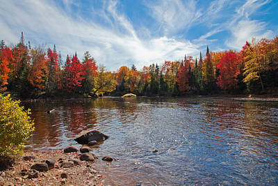 South Of The Lock And Dam In Autumn Print by David Patterson