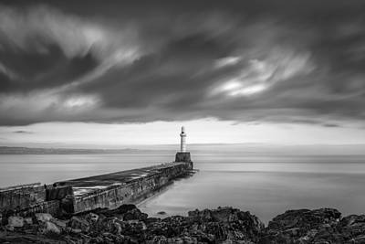 Sea Swell Photograph - South Pier 2 by Dave Bowman