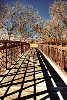 South Platte River Bridge Print by David Patterson