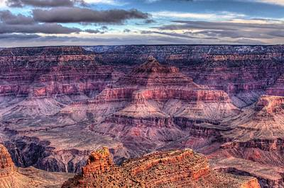 South Rim Morning Print by Dave Files