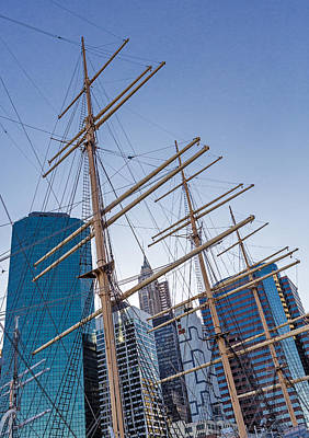 Maritime Photograph - South Street Seaport And Financial District by Susan Candelario