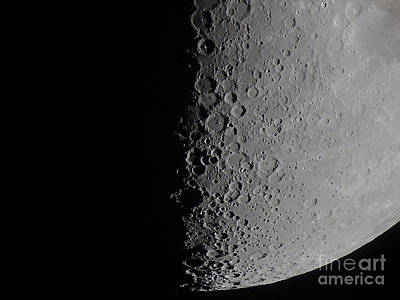 Waning Moon Photograph - South Terminator Of 7 Day Moon by Alan Dyer