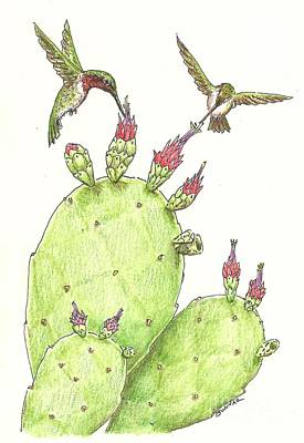 South Texas Nopales For Breakfast Print by Sue Bonnar