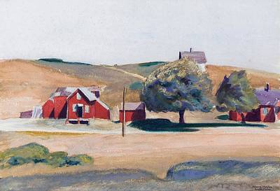 South Truro Post Office I Print by Edward Hopper