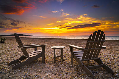 Southampton Shores View For 2 Print by Ryan Moore