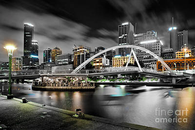 Southbank Footbridge Print by Az Jackson