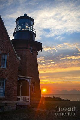 Southeast Lighthouse Block Island  Print by Diane Diederich