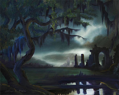 Cemetary Painting - Southern Arch by James Christopher Hill