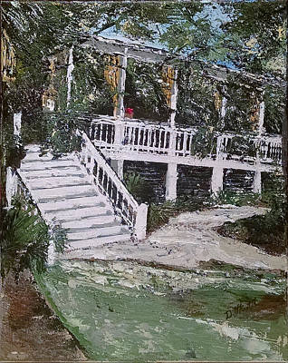 Pallet Knife Painting - Southern Charm by Donna Mann