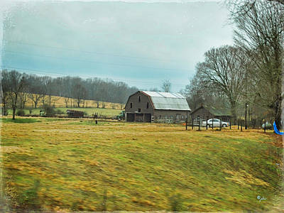 Southern Farm Print by Paulette B Wright