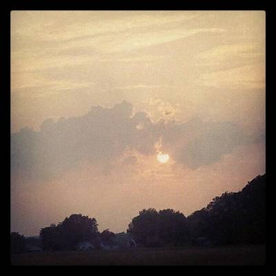 Rural Scenes Photograph - Southern Indiana Sunset by Jill Tuinier