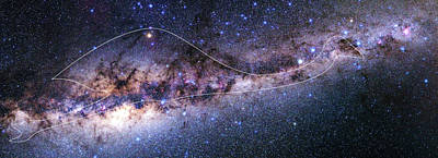 Emu Photograph - Southern Milky Way by Babak Tafreshi