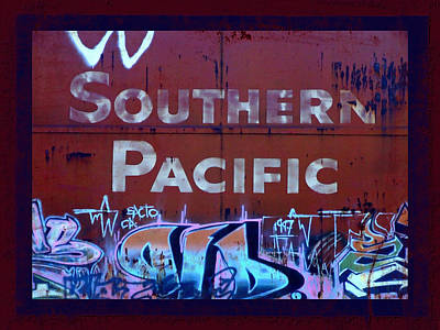 Tag Art Photograph - Southern Pacific by Donna Blackhall