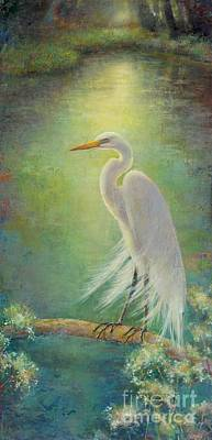 Egret Mixed Media - Southern Serenity  by Lori  McNee