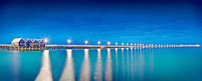 Boardwalk Photograph - Southern Star Lights by Az Jackson