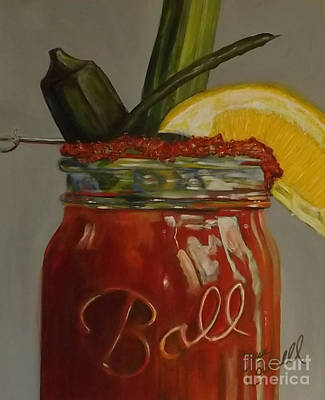 Bloody Mary Painting - Southern Style Bloody Mary by Sue Cockrell