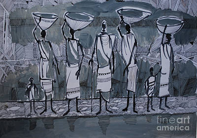Painting - Southern Women by Mohamed Fadul