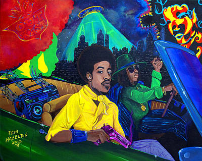 Andre Painting - Southernplayalisticadillacpainting  by Tim Hazelton