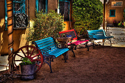 Window Bench Photograph - Southwest Benches by David Patterson
